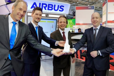 Airbus and Altran win Crystal Cabin Award with printed electrics technology
